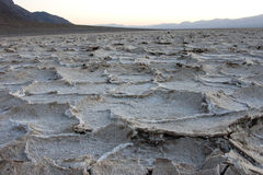 Dry cracked earth in Salt Flats, Death Valley Royalty Free Stock Photos