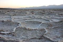 Dry cracked earth in Salt Flats, Death Valley Stock Images
