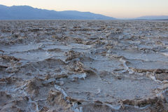 Dry cracked earth in Salt Flats, Death Valley Stock Photos