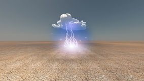 Dry Cracked earth with cloud Royalty Free Stock Photo