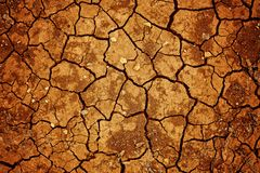 Dry cracked earth texture. Cracked clay ground into the dry season stock photography