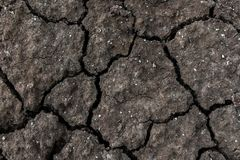 Dry cracked ground for background and design. Earth ground crack with dust and rough dry surface texture Climate change Royalty Free Stock Images