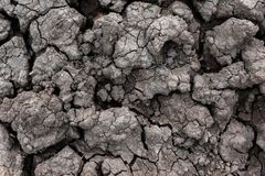 Dry cracked ground for background and design. Earth ground crack with dust and rough dry surface texture Climate change Royalty Free Stock Photos