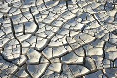 Dry cracked ground. On desert stock image