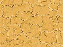 Dry cracked ground Royalty Free Stock Images