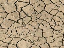 Dry cracked ground Stock Image