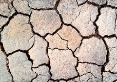 Dry and Cracked ground Royalty Free Stock Photos