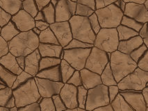 Dry cracked ground texture. abstract relief pattern Royalty Free Stock Photo