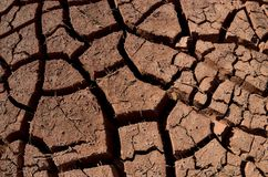 Dry and cracked ground without water,desert area, abstract global warming background royalty free stock photography
