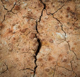 Dry and cracked land Royalty Free Stock Photos
