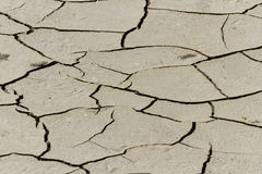 Dry cracked land. Extreme terrain. Nature background Royalty Free Stock Photos