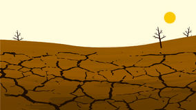 Dry cracked land in the farming field. Rural landscape. Design elements for info. Graphic, websites and print media. Vector illustrations vector illustration