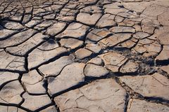Dry and cracked land, no rainfall Royalty Free Stock Photo