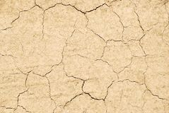Dry cracked land texture Stock Image