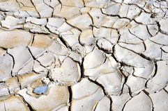 Dry and cracked land at Zabriskie point Stock Photography