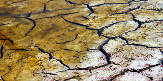 Dry Cracked Mud Background Stock Photography