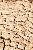 Dry cracked mud in dried up waterhole Stock Photography