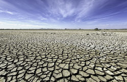 Dry, cracked plains of outback Australia Royalty Free Stock Image