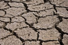 Dry Cracked Riverbed Royalty Free Stock Photography