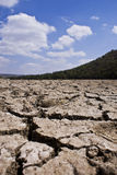 Dry Cracked Riverbed - Portrait Stock Images