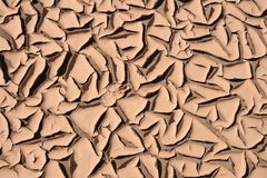 Dry Cracked Sand. At Hot Summer Royalty Free Stock Photos