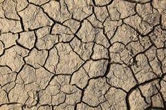 Dry cracked soil Stock Photo