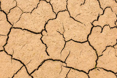 Dry and cracked soil earth textures. Close up. Stock Photography