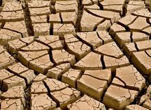 Dry cracked soil Royalty Free Stock Images