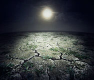 Dry cracked surface of planet Royalty Free Stock Photography