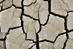 Dry crasked soil Stock Images