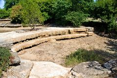 Dry Creekbed. A man made dry creek bed in a local public park Royalty Free Stock Images