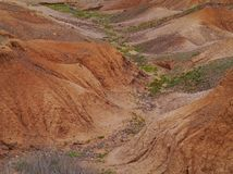 Dry creeks and river beds near La Oliva on Fuerteventura Stock Image