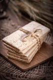 Dry crisp breads. Royalty Free Stock Photos
