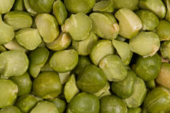 Dry crushed green peas. Different colors of healthy food. Territory taste. Grains and kernels Stock Photo
