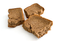 Dry crust of rye bread. Royalty Free Stock Photography