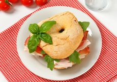 Dry-cured ham sandwich Royalty Free Stock Photography