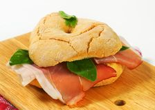 Dry-cured ham sandwich Royalty Free Stock Images