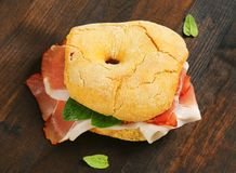 Dry-cured ham sandwich Royalty Free Stock Image