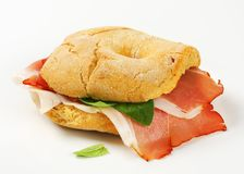 Dry-cured ham sandwich Stock Images