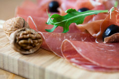 Dry curred cold cuts Royalty Free Stock Images
