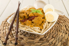 Dry Curry Mee Stock Photography