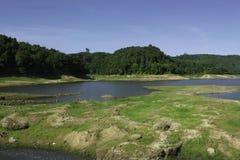 Dry dam lake Royalty Free Stock Images
