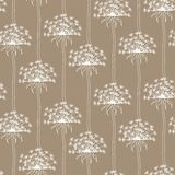Dry dandelion flowers - abstract seamless pattern Royalty Free Stock Photography