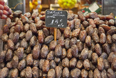 Dry date fruits to sell Royalty Free Stock Photo
