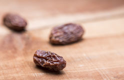 Dry dates. Display creatively for food editors and blogger Stock Image