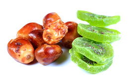 Dry dates and kiwi Royalty Free Stock Image