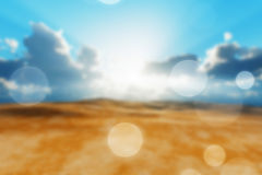 Dry desert blur Royalty Free Stock Photography
