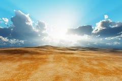 Dry desert Royalty Free Stock Photo