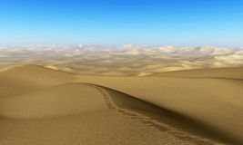 Dry Desolate Sand Desert Illustration Royalty Free Stock Photography