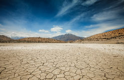 Dry Dhankar lake Royalty Free Stock Image
